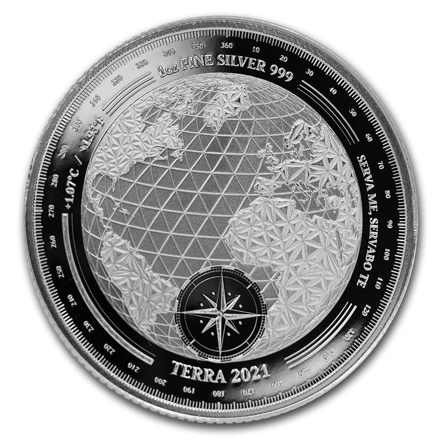 2021 Tokelau 1 oz Silver $5 Terra (Prooflike)