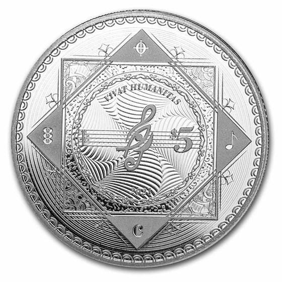 2021 Tokelau 1 oz Silver $5 Vivat Humanitas (Prooflike)