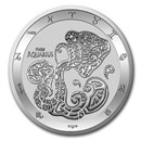 2021 Tokelau 1 oz Silver $5 Zodiac Series: Aquarius BU