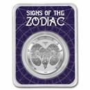 2021 Tokelau 1 oz Silver $5 Zodiac Series: Aries BU (TEP)