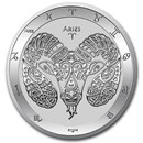 2021 Tokelau 1 oz Silver $5 Zodiac Series: Aries BU