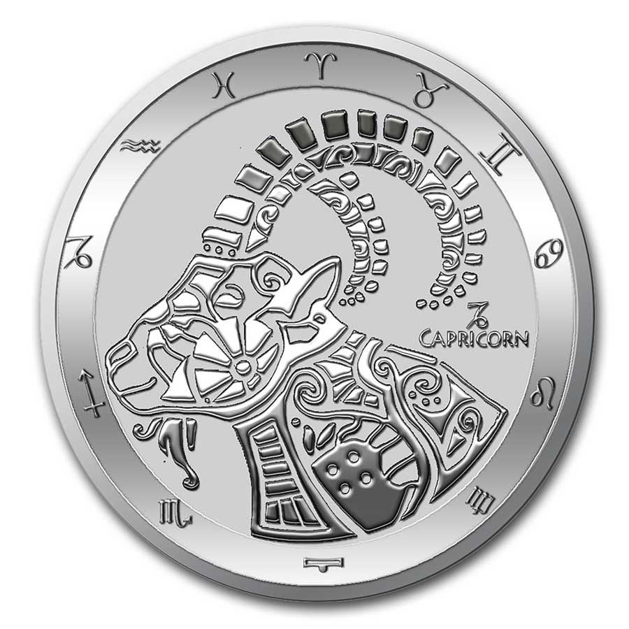 2021 Tokelau 1 oz Silver $5 Zodiac Series: Capricorn BU