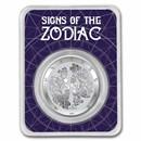 2021 Tokelau 1 oz Silver $5 Zodiac Series: Gemini BU (TEP)