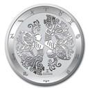 2021 Tokelau 1 oz Silver $5 Zodiac Series: Gemini BU