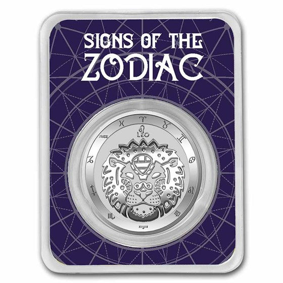 2021 Tokelau 1 oz Silver $5 Zodiac Series: Leo BU (TEP)