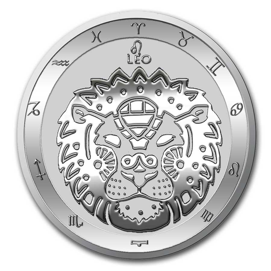 2021 Tokelau 1 oz Silver $5 Zodiac Series: Leo BU