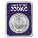 2021 Tokelau 1 oz Silver $5 Zodiac Series: Libra BU (TEP)