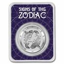 2021 Tokelau 1 oz Silver $5 Zodiac Series: Pisces BU (TEP)