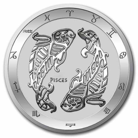 2021 Tokelau 1 oz Silver $5 Zodiac Series: Pisces BU