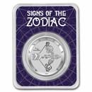 2021 Tokelau 1 oz Silver $5 Zodiac Series: Sagittarius BU (TEP)