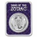 2021 Tokelau 1 oz Silver $5 Zodiac Series: Scorpio BU (TEP)