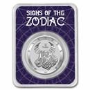 2021 Tokelau 1 oz Silver $5 Zodiac Series: Taurus BU (TEP)