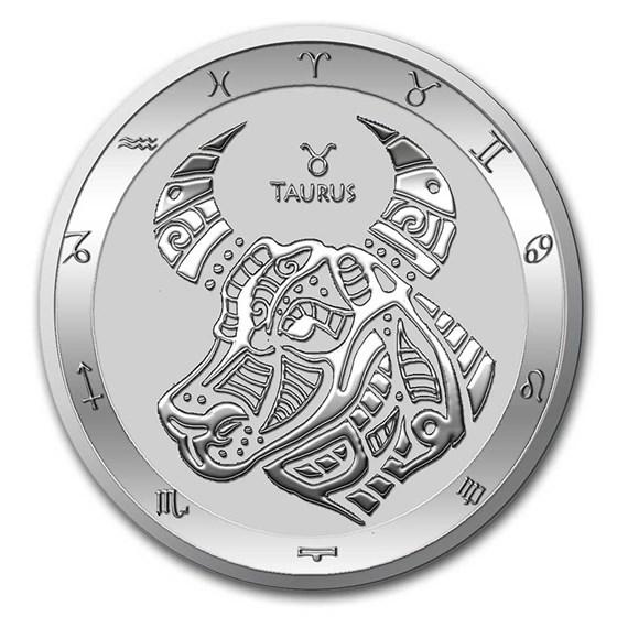 2021 Tokelau 1 oz Silver $5 Zodiac Series: Taurus BU