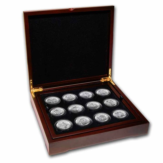 2021 Tokelau Silver Signs of the Zodiac Series 12-coin Proof Set