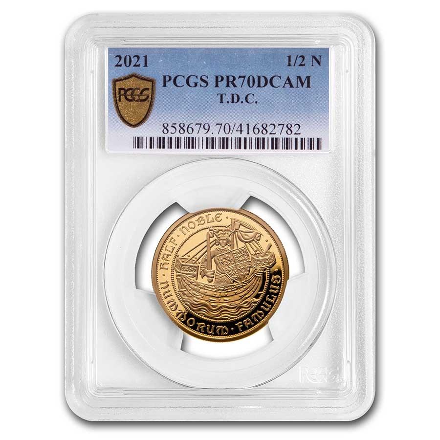 2021 Tristan Da Cunha 1/2 oz Gold Noble PR-70 PCGS
