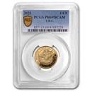 2021 Tristan Da Cunha 1/4 oz Gold Noble PR-69 PCGS