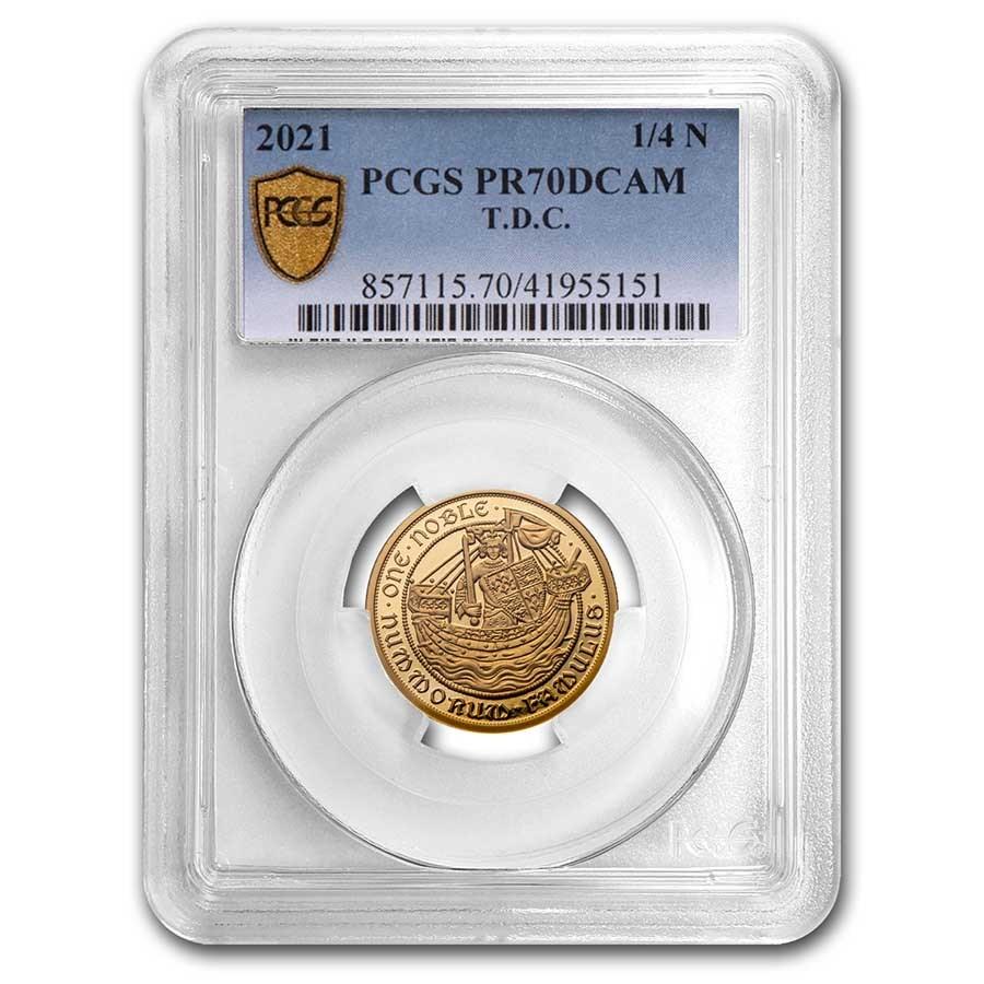 2021 Tristan Da Cunha 1/4 oz Gold Noble PR-70 PCGS