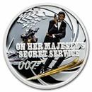 2021 TUV 1/2 oz Ag 007 James Bond: Her Majesty's Secret Service