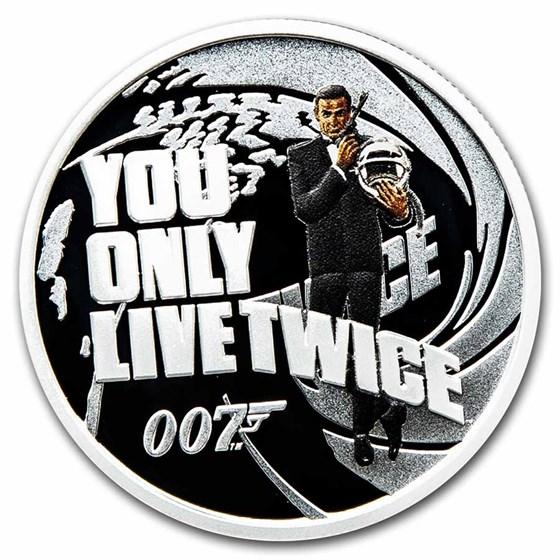 2021 TUV 1/2 oz Silver 007 James Bond Movie: You Only Live Twice