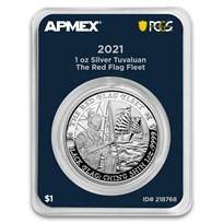 2021 TUV 1 oz Silver The Red Flag Fleet (MD® Premier + PCGS FS)