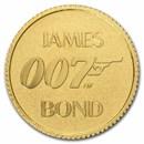 2021 Tuvalu 1/2 gram Gold James Bond 007 BU (w/Blister Pack)