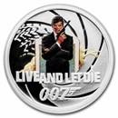 2021 Tuvalu 1/2 oz Silver 007 James Bond Live and Let Die