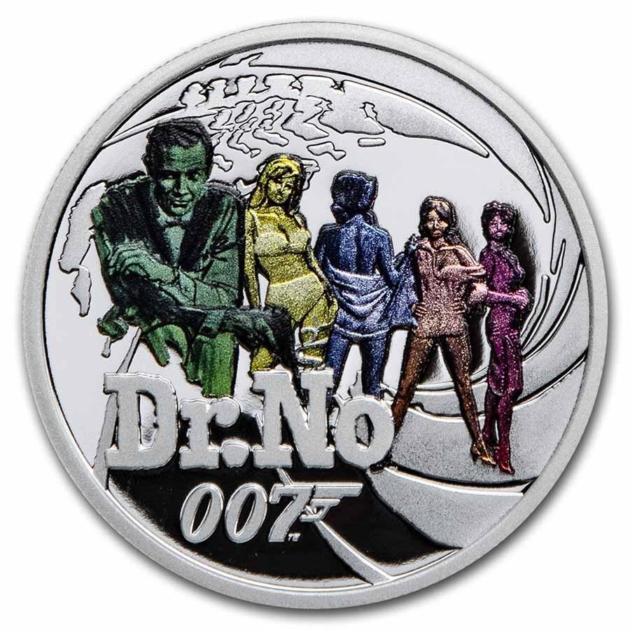 2021 Tuvalu 1/2 oz Silver 007 James Bond Movie Collection: Dr. No