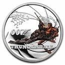 2021 Tuvalu 1/2 oz Silver 007 James Bond Movie: Thunderball