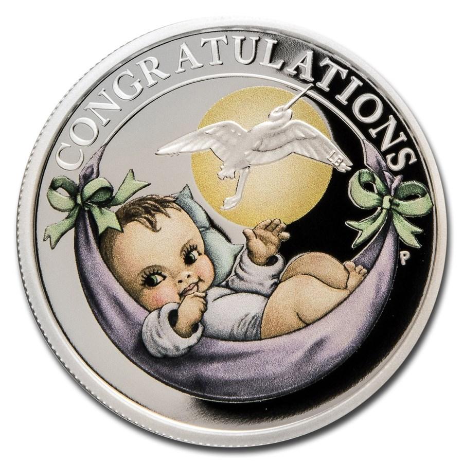 2021 Tuvalu 1/2 oz Silver Newborn Proof