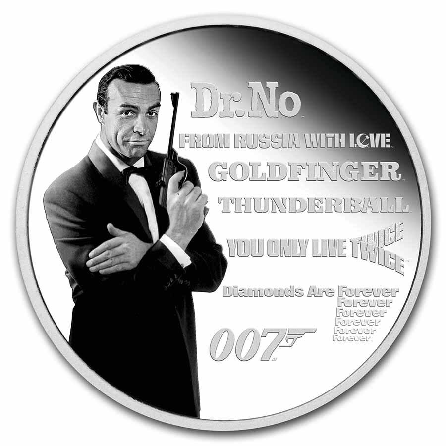2021 Tuvalu 1 oz Silver 007 James Bond Legacy Series: 1st Issue