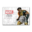 2021 Tuvalu 1 oz Silver $1 Marvel Series Wolverine BU (In Card)