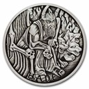 2021 Tuvalu 1 oz Silver Antiqued Gods of Olympus (Hades)