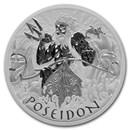 2021 Tuvalu 1 oz Silver Gods of Olympus BU (Poseidon)