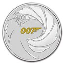 2021 Tuvalu 1 oz Silver James Bond 007 BU