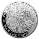 2021 Tuvalu 5 oz Silver Black Flag (The Red Flag Fleet)