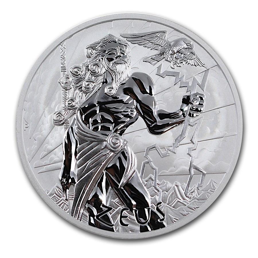 2021 Tuvalu 5 oz Silver Gods of Olympus BU (Zeus)