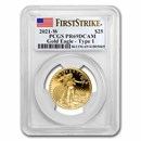 2021-W 1/2 oz Proof American Gold Eagle PR-69 PCGS (FS)