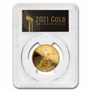 2021-W 1/2 oz Proof American Gold Eagle PR-70 PCGS (FDI, Black)