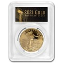 2021-W 1 oz Proof American Gold Eagle PR-70 PCGS (FDI, Black)