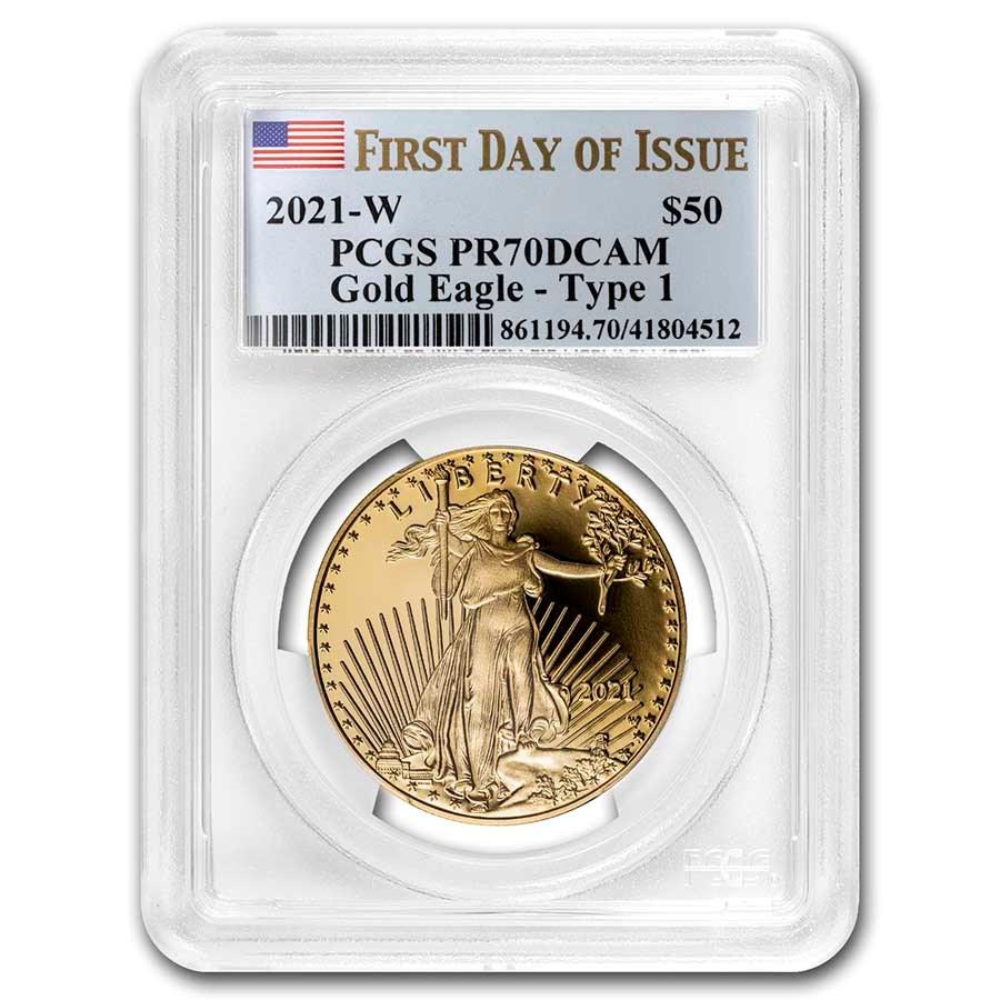 2021-W 1 oz Proof American Gold Eagle PR-70 PCGS (FDI)