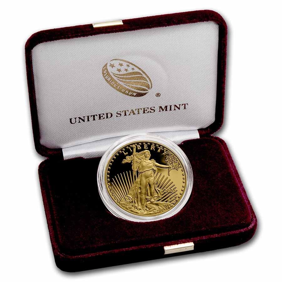2021-W 1 oz Proof American Gold Eagle (Type 1) (w/Box & COA)