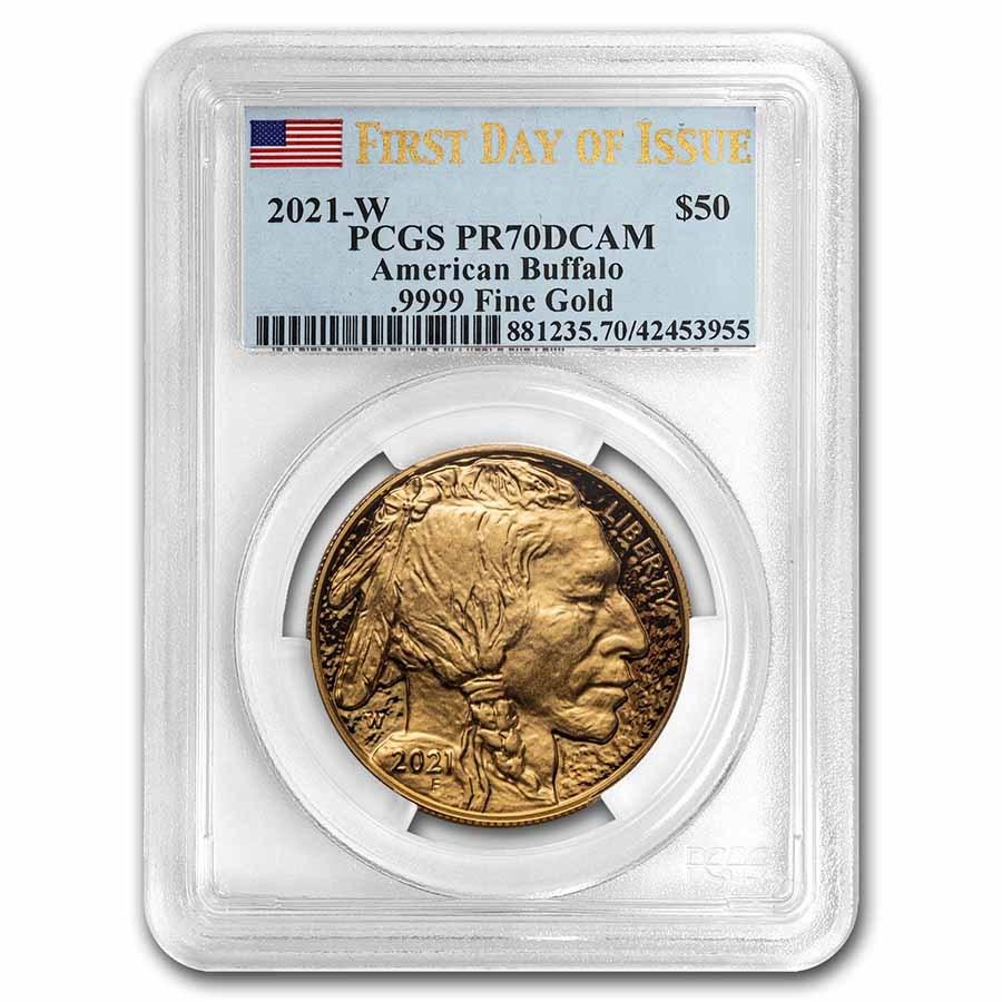 2021-W 1 oz Proof Gold Buffalo PR-70 PCGS (FDI)