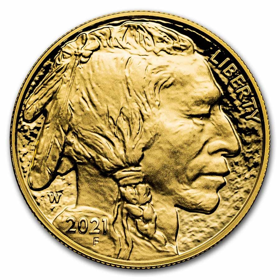 2021-W 1 oz Proof Gold Buffalo (w/Box & COA)