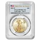 2021-W 1 oz Proof Gold Eagle PR-70 PCGS (FDI, Type 2)