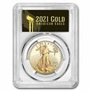 2021-W 1 oz Proof Gold Eagle (Type 2) PR-70 PCGS (FDI, Black)