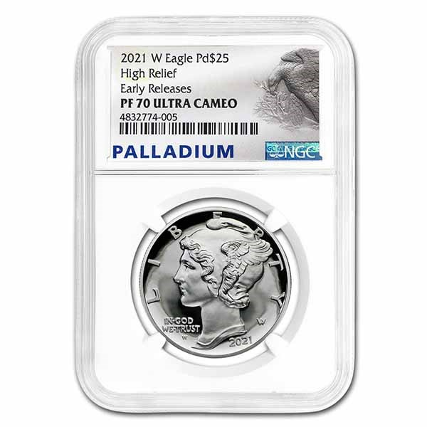2021-W 1 oz Proof Palladium Eagle PF-70 UCAM NGC (Early Releases)