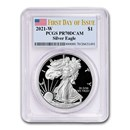 2021-W American Silver Eagle PR-70 PCGS (First Day of Issue)