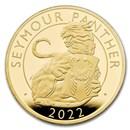 2022 2 oz Gold Royal Tudor Beasts Seymour Panther Prf (Box/COA)