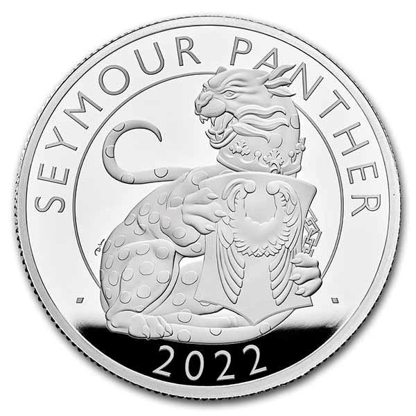 2022 2 oz Silver Royal Tudor Beasts Seymour Panther Prf (Box/COA)