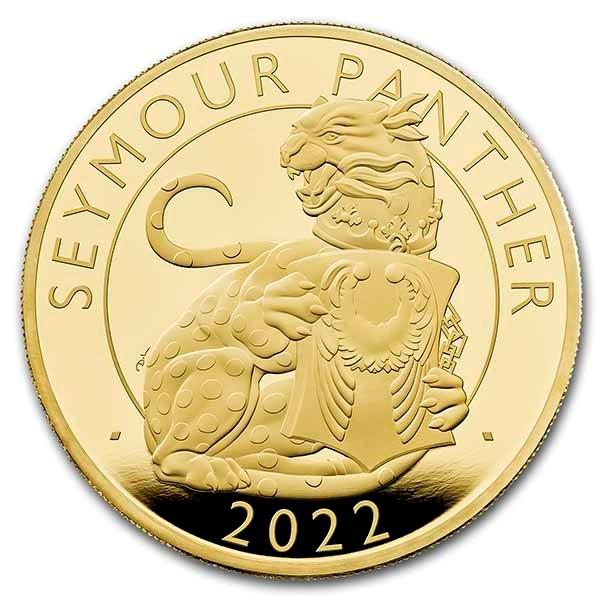 2022 5 oz Gold Royal Tudor Beasts Seymour Panther Prf (Box/COA)